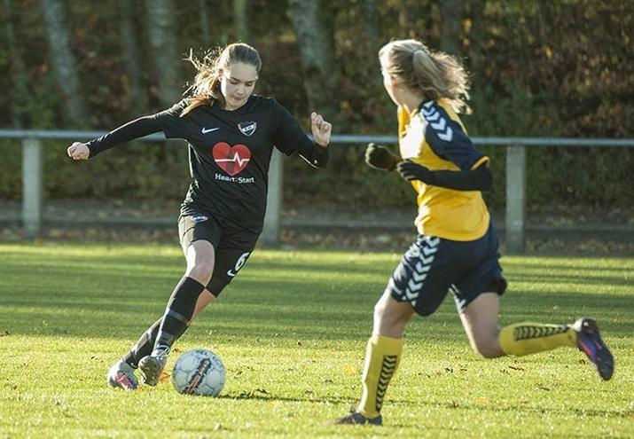 Selma Svendsen på U17-landsholdet