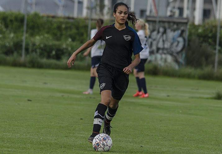 Daniella Diaz på U16-landsholdet